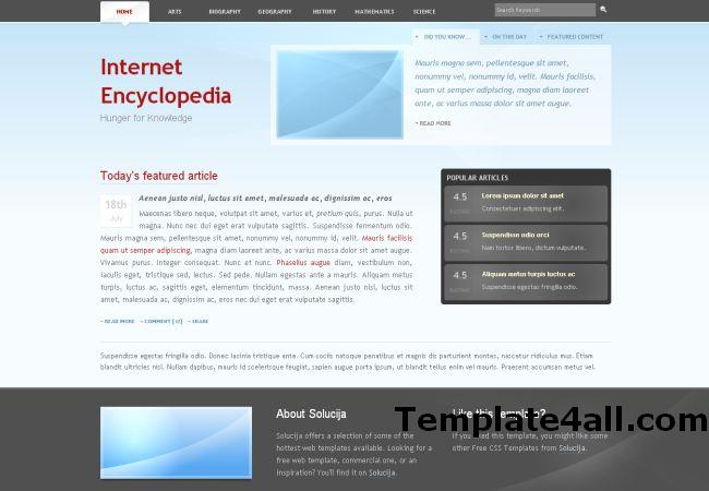 Free Business Blue HTML Website Template