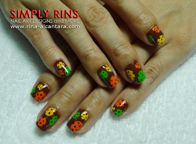 polka dots nail art design by Simply Rins