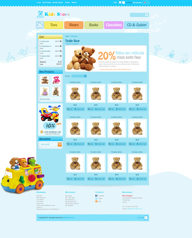 Toy Stores Web Template