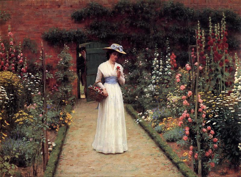 Edmund Blair Leighton - Lady in a Garden