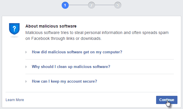 Cách Vượt CheckPoint Khi Facebook Bắt quét Virus