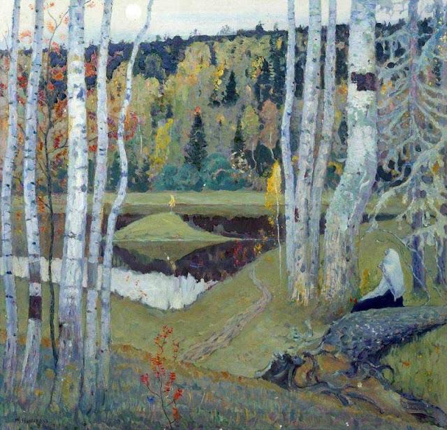 Mikhail Nesterov - Autumn Landscape. 1934