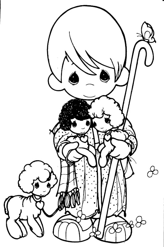 precious moments chritsmas coloring pages - photo#11
