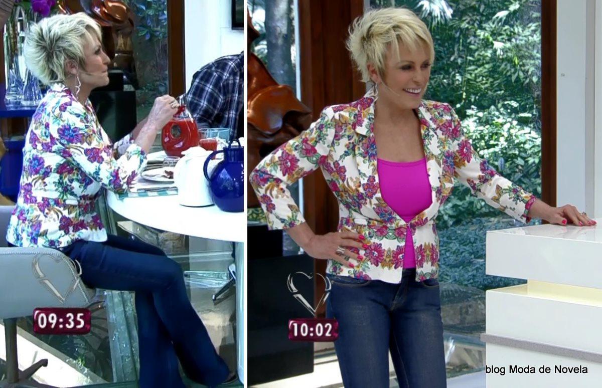 moda do programa Mais Você - look da Ana Maria Braga dia 28 de julho