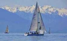 J/120 sailboat- sailing the Swiftsure Race