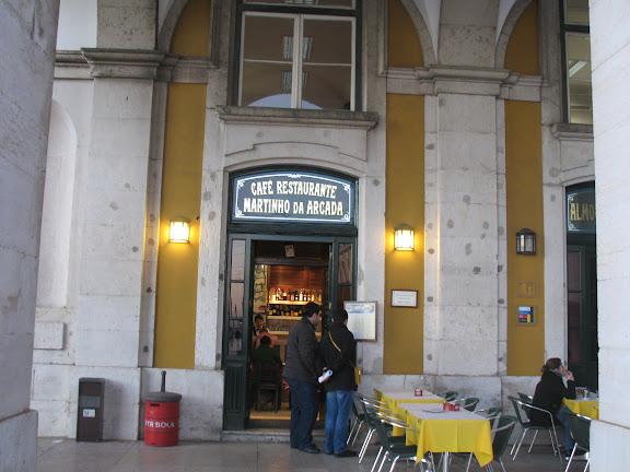 Restaurante Martinho da Arcada, rincón de F.Pessoa. Lisboa