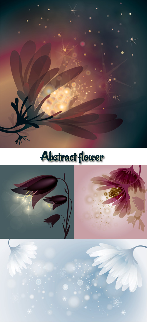 Stock: Abstract flower 3