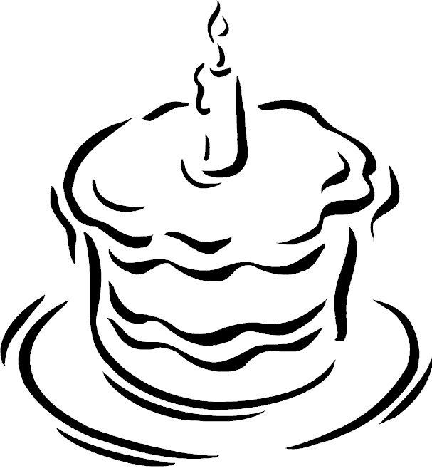 Pinto Dibujos: Pastel de cumpleaños para colorear