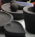 Lumpang batu asli merapi dengan aneka bentuk yang cantik