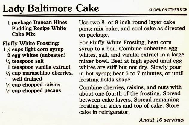 Have you ever heard this enchanting story about Lady Baltimore Cake?