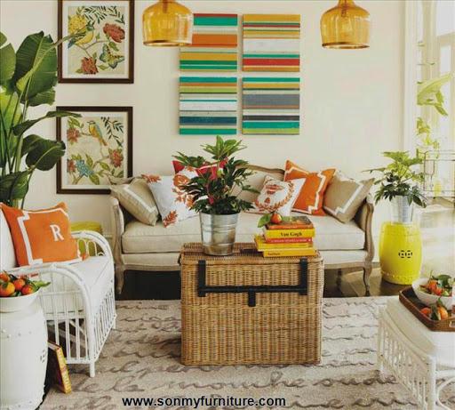 Phòng khách tươi mới đón mùa xuân hè_tin tức nội thất-7
