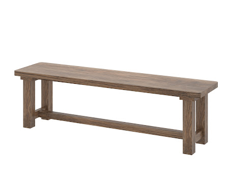 Ashton Bench in Tudor Hickory