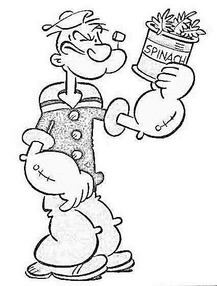 Popeye malvorlagen
