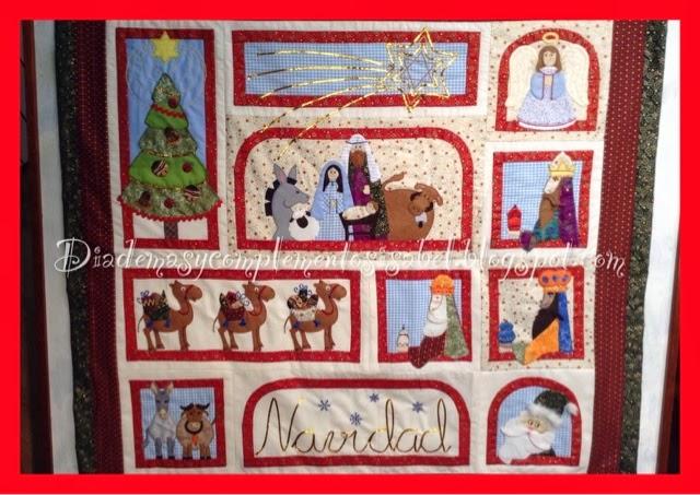 Diademas y complementos isabel cuadro navide o patchwork for Mural navideno
