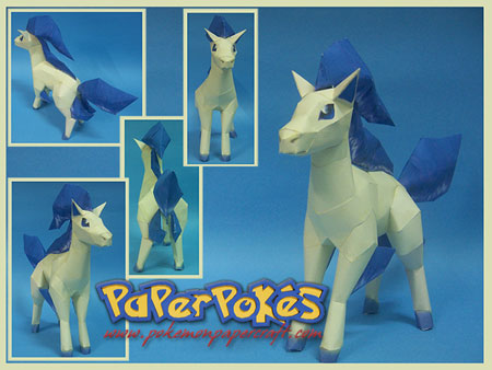 Pokemon Ponyta Paper Model