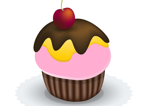 Create a yummy vector cupcake Adobe Illustrator tutorial
