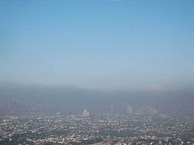 air pollution over Metro Manila