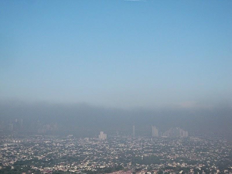 air pollution over Metro Manila