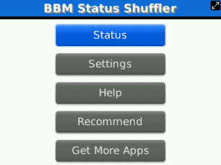 Status Shuffler for BBM v2.3 for BlackBerry
