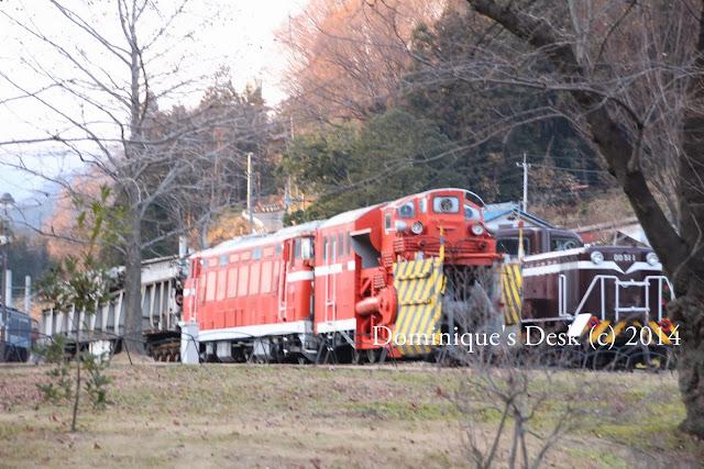 An orange steam engine
