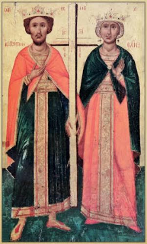A Miraculous Appearance Of Saint Helen To A Cypriot Woman