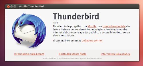Thunderbird 15 su Ubuntu