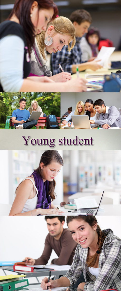 Stock Photo: Young student Set 9