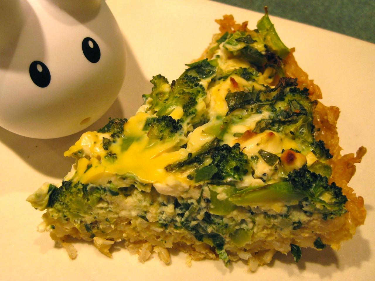 ... the Labbit: Labbits Like: Broccoli Feta Quiche With Brown Rice Crust