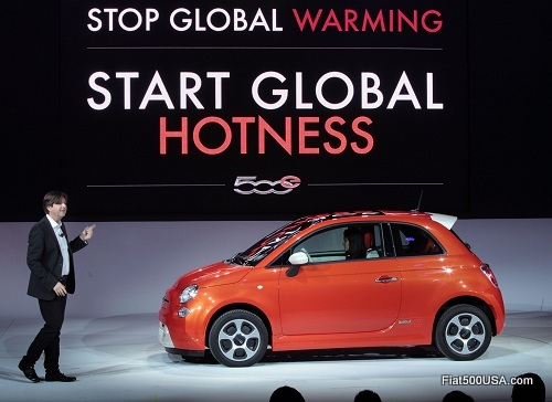 Fiat 500e intro at the LA Auto Show