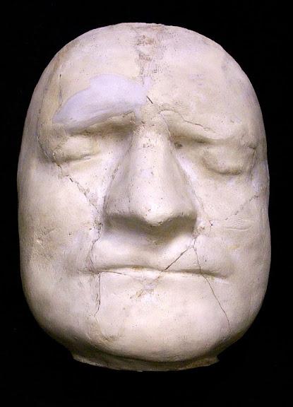 Máscara mortuária de Isaac Newton. (Foto: Princeton University Library)