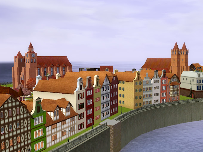 european town sims3 delsburg
