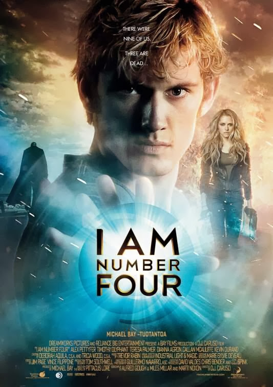 Poster Of I Am Number Four (2011) Full Movie Hindi Dubbed Free Download Watch Online At Alldownloads4u.Com