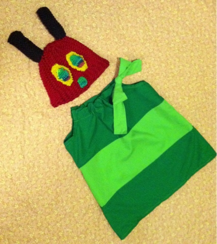 The Very Hungry Caterpillar Costume & Books Babies and Bows: The Very Hungry Caterpillar and Beautiful ...