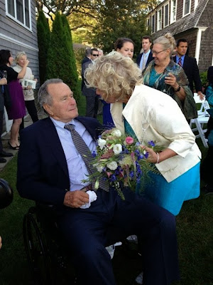 Former president George H. W. Bush officially witnesses lesbian nuptials