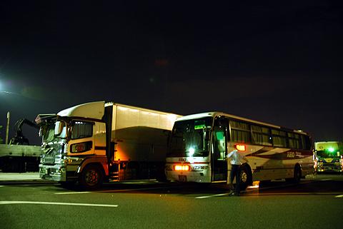 京王バス東「中央高速バス名古屋線」 K50705 双葉SA休憩中