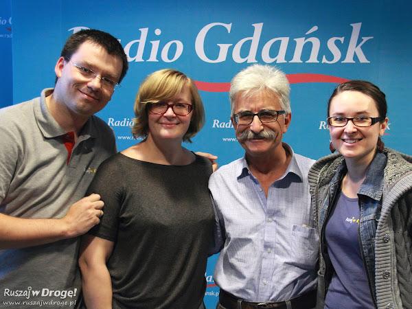 Kasia i Maciej Marczewscy, Beata Szewczyk i Piotr Kruszyński w Radio Gdańsk