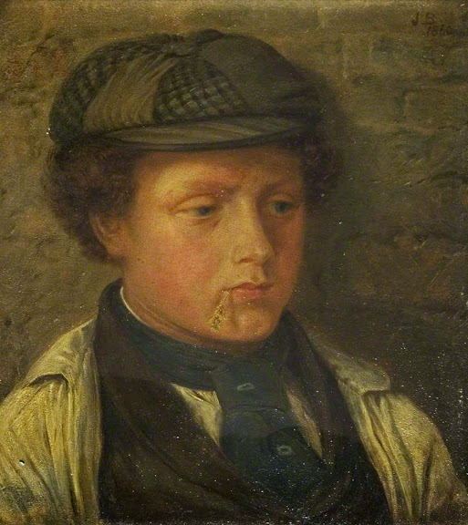 John Edward Brett - Boy Chewing Straw
