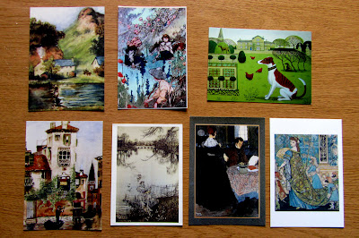 illustration postcards