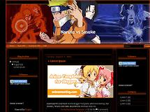 Anime Templates for Blogger: Naruto vs Sasuke