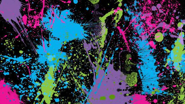 Splatter Paint Emo Neon Wallpaper