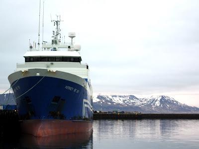 Ferry in Reykjavik Iceland