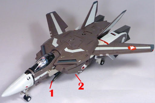 Super Dimension Fortress Macross The Masterpiece Collection YF-1R VF-1R Armament weapon position