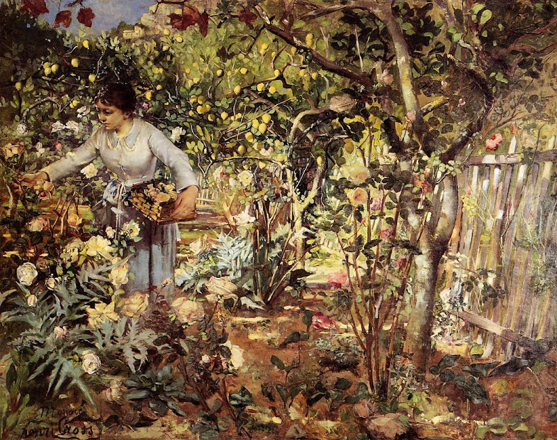Henri-Edmond Cross - Corner of the Garden in Monaco