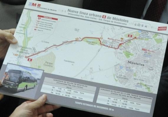 Nueva línea 6 de autobús entre la Universidad Rey Juan Carlos y la urbanización Parque Guadarrama