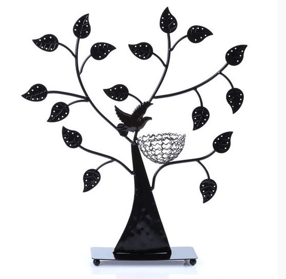 Jewelry Organizer Ring Necklace Earring Holder Storage Tree Bird Nest Display Home Decor