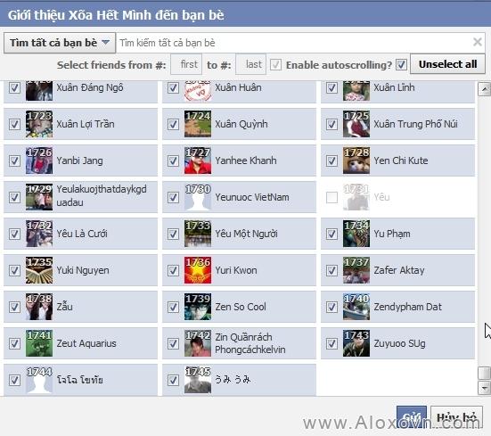 Mời tất cả bạn bè like fanpage facebook bước 4