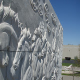 Running Horses Relief Wall