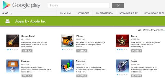 Google Playに現れた偽物のApple