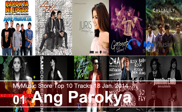 MyMusic Store Top 10 Tracks 18 Jan. 2014
