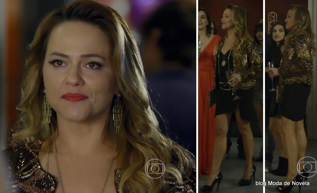 moda da novela Em Família - looks da Shirley dia 4 de julho